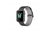 Apple Watch 42mm Uzay Grisi Alüminyum Kasa ve Naylon Örme siyah Kordon