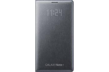 LED Flip Cover - Galaxy Note 4 Kömür Gri
