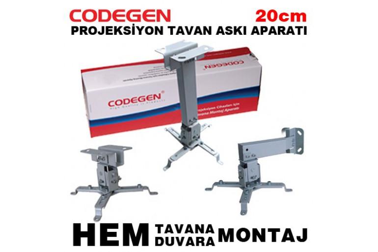 Codegen P20 20CM Universal Projeksiyon Tavan veya Duvar Askı Aparatı