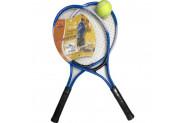 Pasifik Komple Çantalı Kort Çocuk Tenis Raketi Seti - 2 Raket 1 Top - Mavi