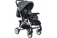 Four Baby 2019 Lüx Alüminyum Mama Tablalı Çift Yönlü Bebek Arabası - Gri