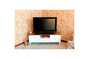 """Ekia CN-313 Zeus (17"""" - 55"""") Beyaz Eskitme Lake 135cm TV sehpası"""