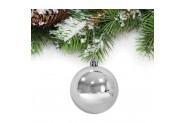 Yılbaşı Gümüş Parlak Ağaç Süsü 8cm 6'lı